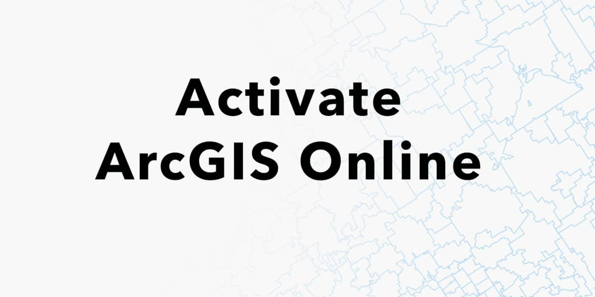 How to activate my ArcGIS Online account? - Esri BeLux