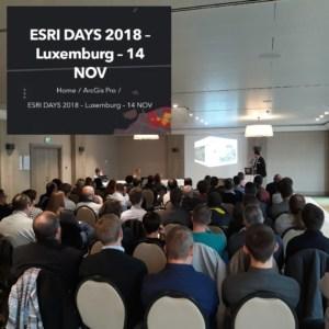 Esri Days Luxembourg - 14 nov - picture 1