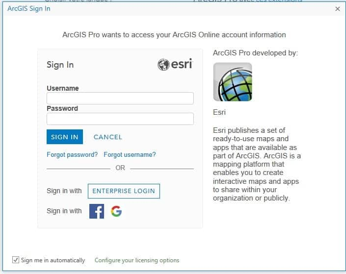 Sign Up for the ArcGIs Trial Sign in