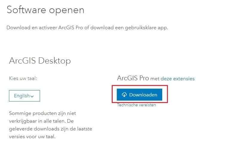 Sign Up for the ArcGIs Trial download