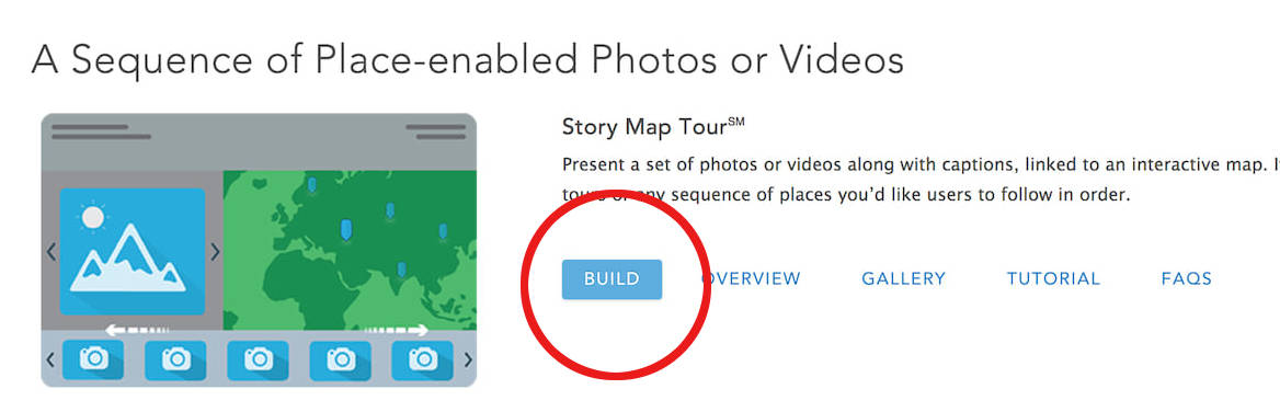 Story Map App pagina-BuildButton