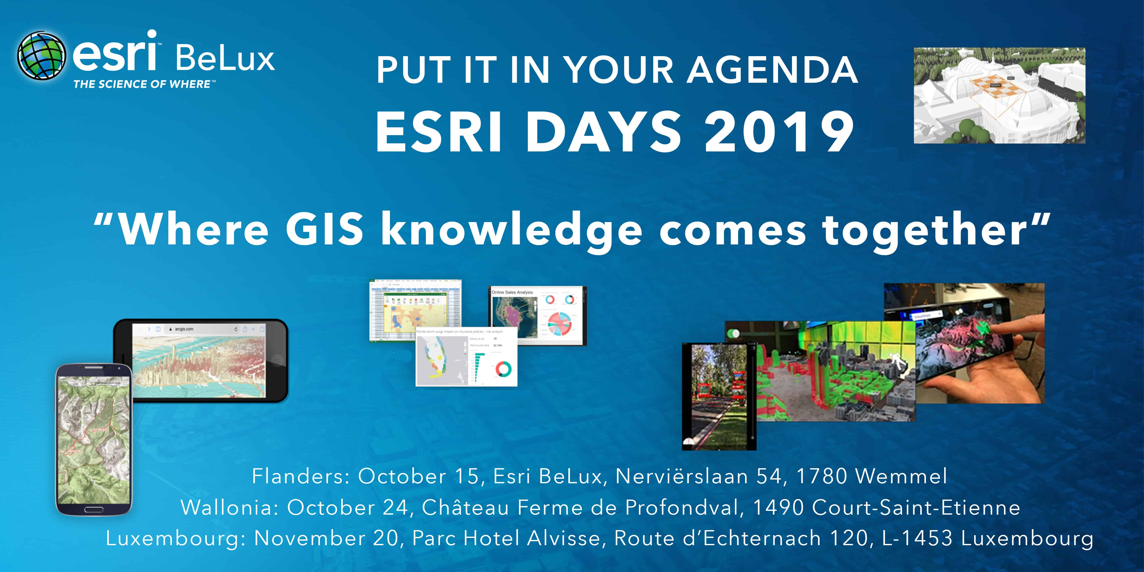 Featured Image Esri Days 2019 - save the date