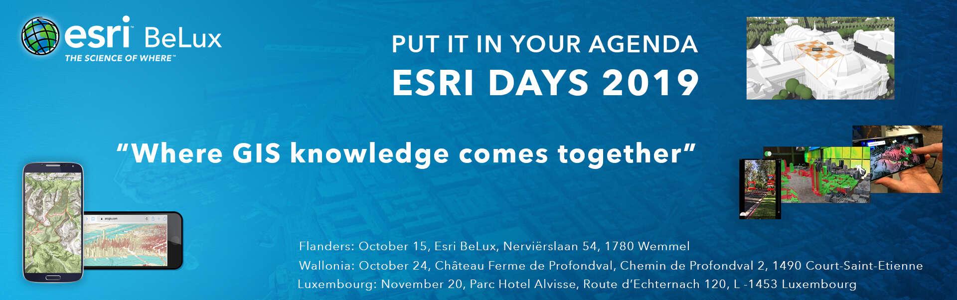 banner Esri Days 2019