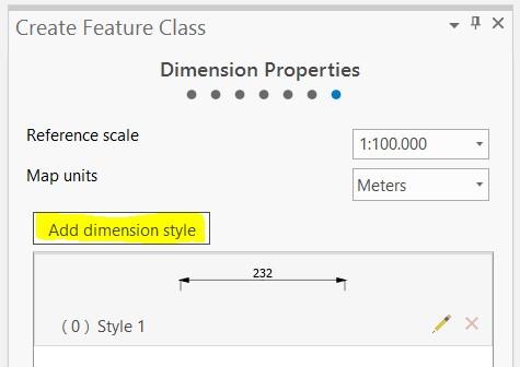 Add dimension style