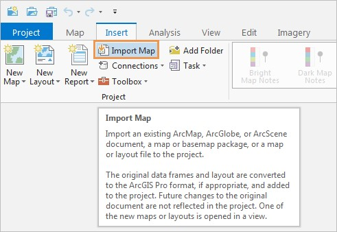 Import Map - ArcGIS Pro