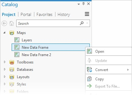 New Data Frame - ArcGIS Pro