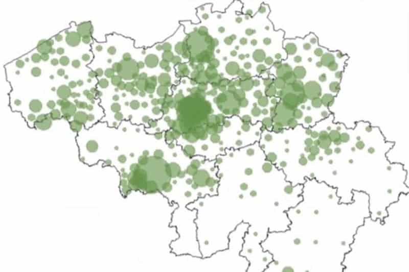 Video 14-19 March Covid-19 spreading in Belgium