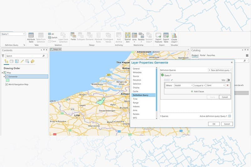 Tips about GIS - Filter data WFS in ArcGIS Pro