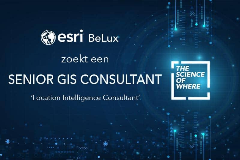 Esri BeLux zoekt een senior GIS consultant