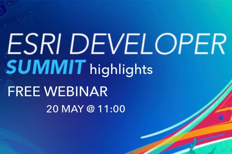 Esri Developer Summit 2021 - webinar 20 may