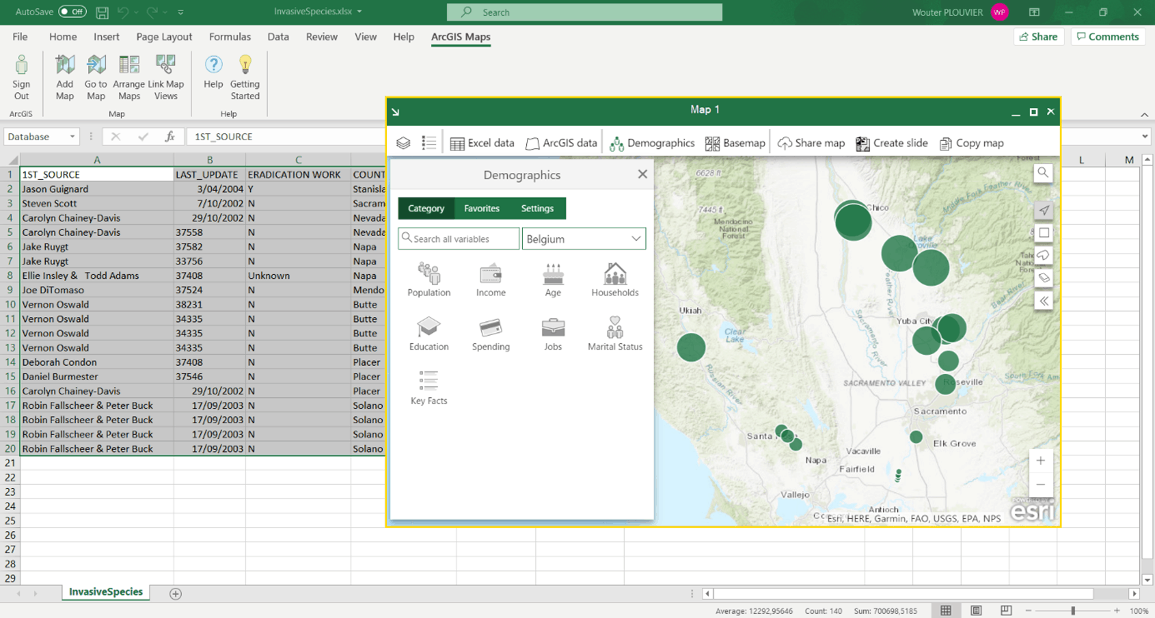 Excel - ArcGIS for Office