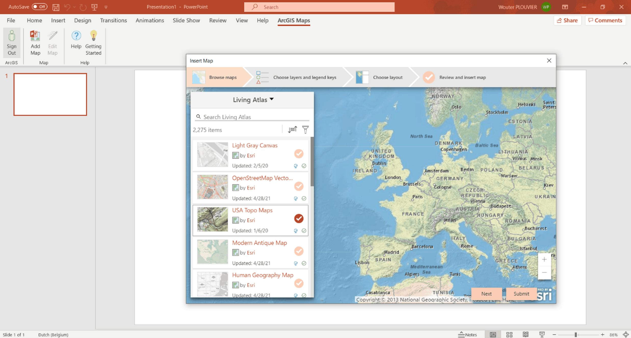Powerpoint - ArcGIS for Office