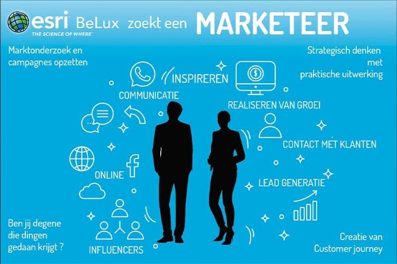 Wij zoeken bij esri BeLux een marketeer