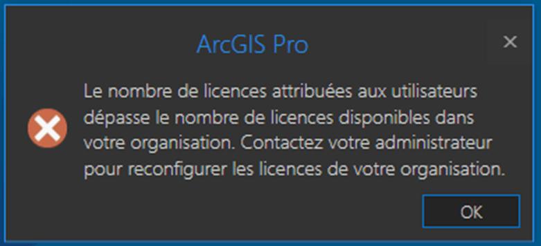 Number of licenses exceeds - FR