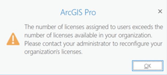 Number of licenses exceeds - alternative warning